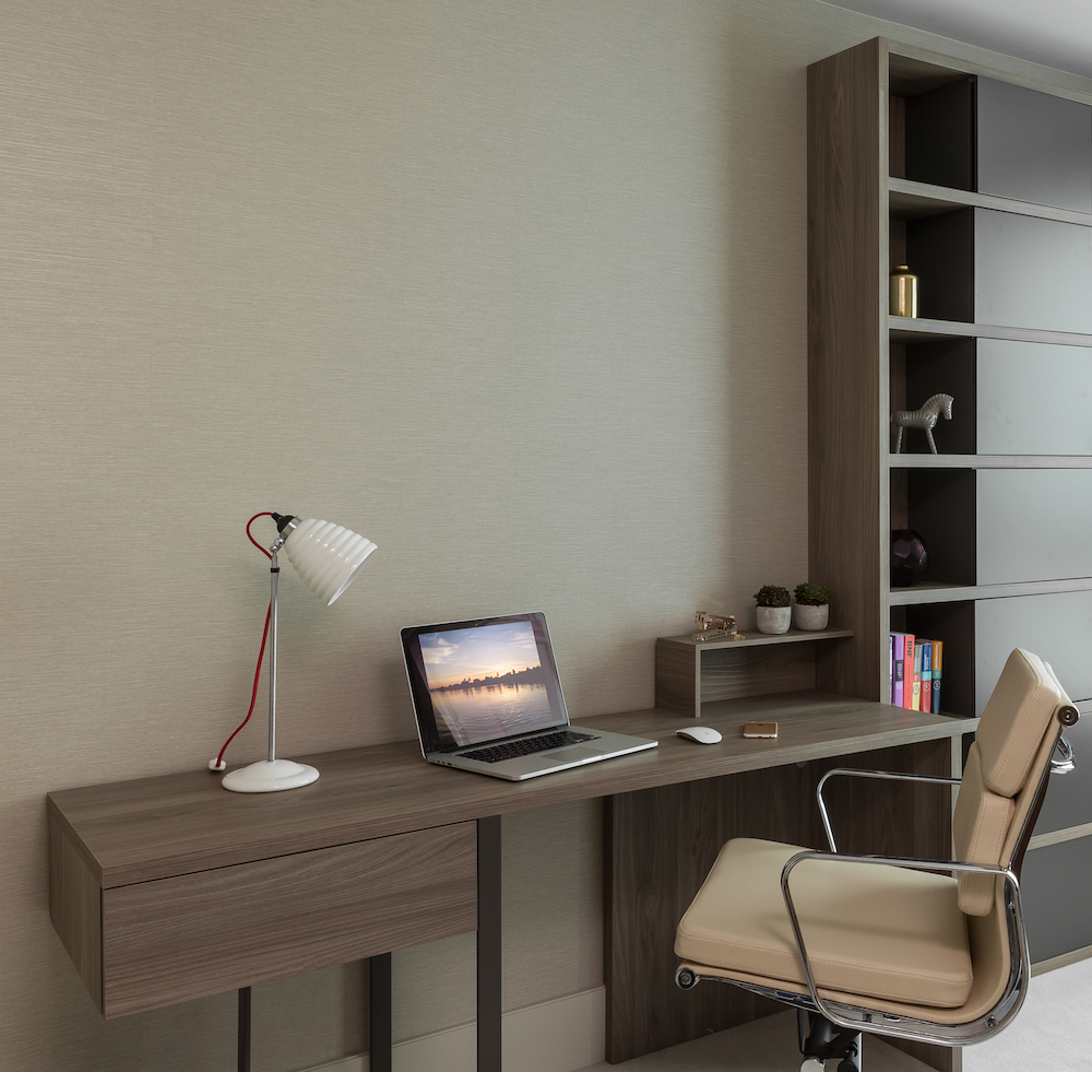 Contemporary home office, neutral colours