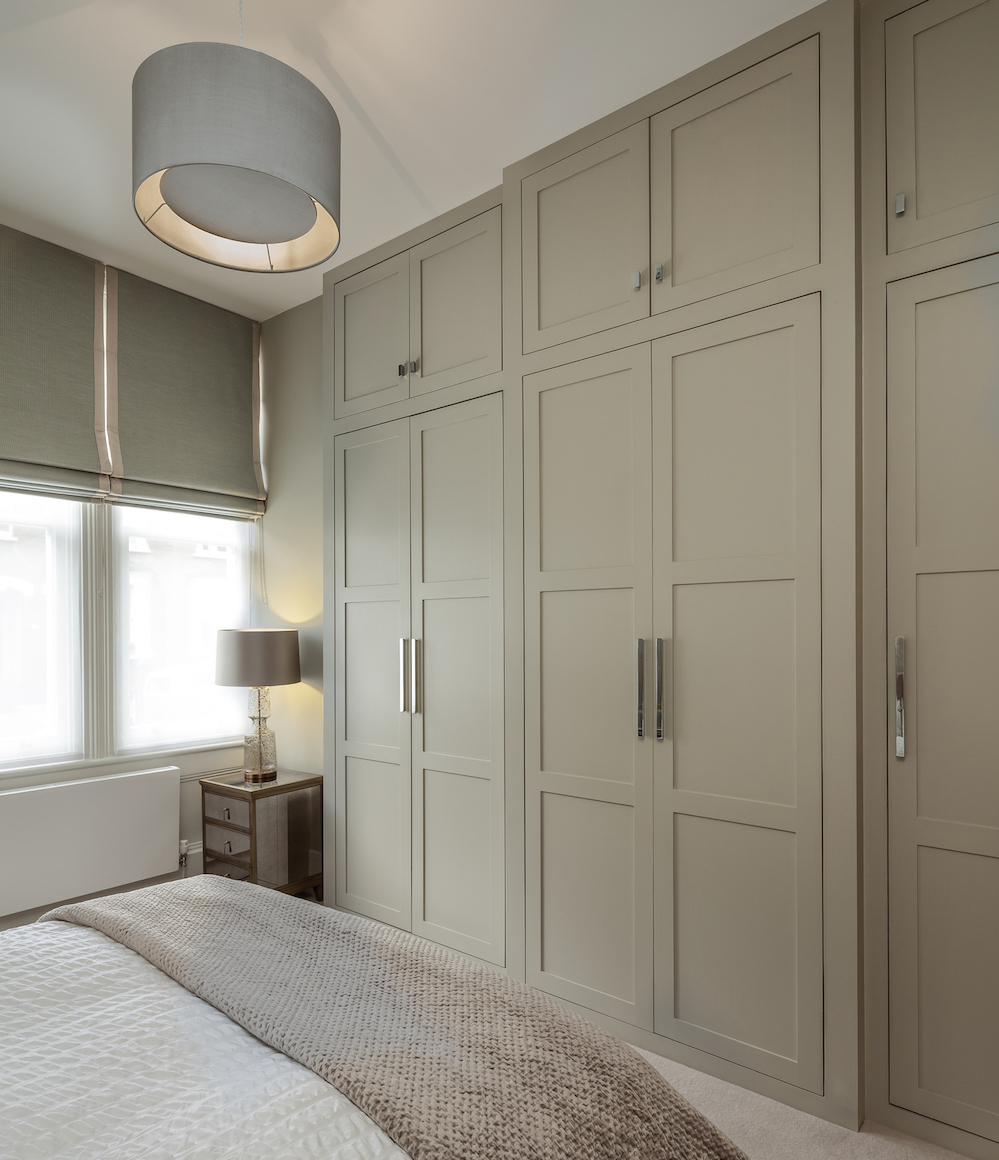 Bespoke joinery painted in sage green